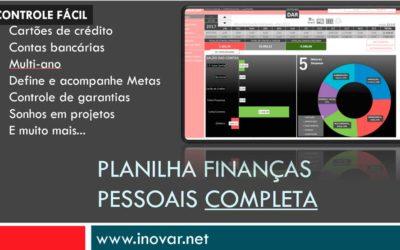 Planilha Finanças Pessoais Completa