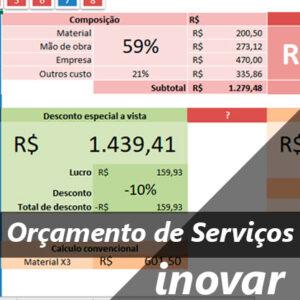 Planilha Cálculo de Orçamento de Serviços
