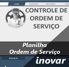 Planilha Ordem de Serviço - Assistência técnica