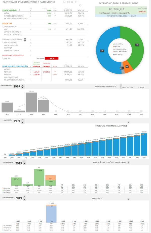 Planilha Finanças Pessoais Completa - Do endividamento aos investimentos