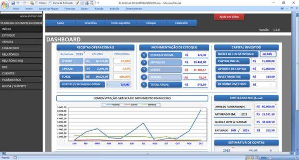 Planilha de Gerenciamento Empresarial - Gerenciamento Completo